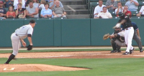 Bobby Livingston pitching