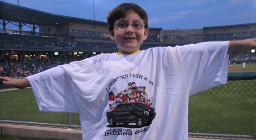 I went to an Indians game and all I got was this free t-shirt