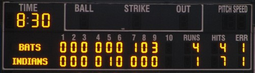 Holy crap! A scoreboard with *all* the innings filled in!