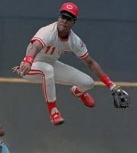 Barry Larkin floats through the air with the greatest of ease