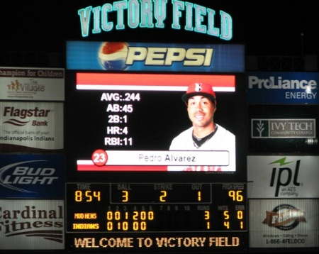 The scoreboard when we had to leave
