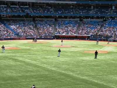 Blue Jays on the field