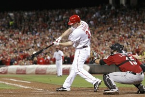 Jay Bruce clinches the division
